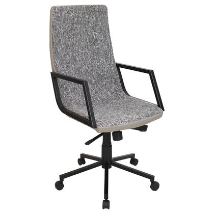 OFC-AC-SN BK+T Senator Height Adjustable Office Chair with Swivel in Black and