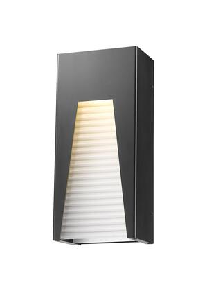 Millenial 561M-BK-SL-FRB-LED 6 1 Light Outdoor Wall Light Contemporary  Metropolitan  Modernhave Aluminum Frame with Black Silver finish in Frosted