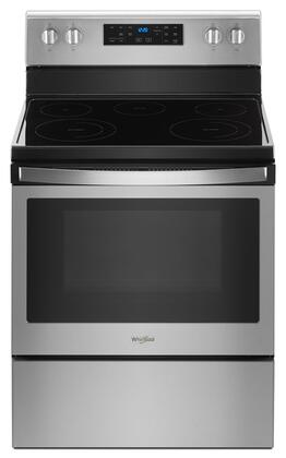 Whirlpool WFE525S0HZ 30 5.3 Cu. Ft. Stainless 5 Burner Electric Range