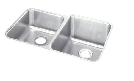 ELUH3120R Lustertone Double Bowl Undermount Sink Small Bowl on
