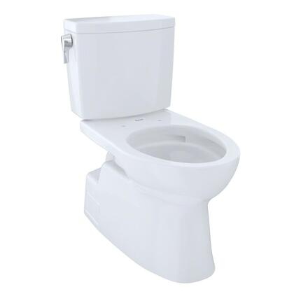 CST474CUFG#01 Vespin II Series Two-Piece Elongated 1G Toilet with Vitreous China Construction  Tornado Flush System  and CeFiONtect Ceramic Glaze  Cotton