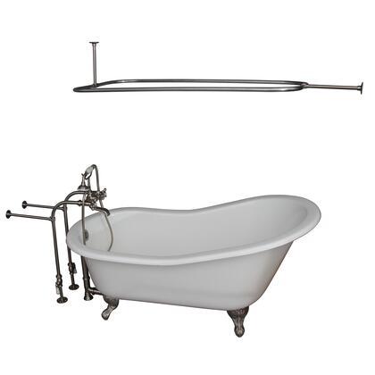 TKCTSN60-SN4 Tub Kit 60 CI Slipper  Shower Rd  Filler  Supplies  Drain-Brush