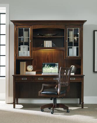 Latitude 5167-1047967 2-Piece Desk and Hutch Set with Task Light  Charging Station  Two Drawers and Keyboard Tray in Dark