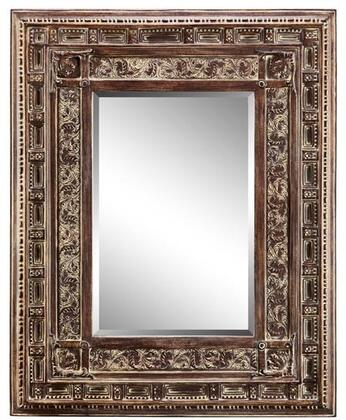Fidela Manor Collection 13456 67 inch  x 46 inch  Scroll Patterned Frame  Rectangular Shape and Geometric Design in