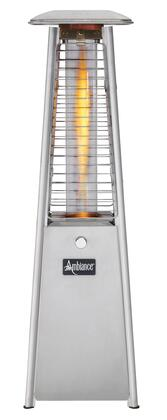 PC15SS 34 inch  Ambiance Mini Table Top Fire Feature with 304 Stainless Steel Panels  3 inch  Borosilicate Quartz Tube and Self-Contained Continuous Spark Electronic