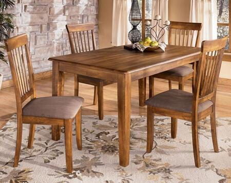 D1992501 Berringer Rectangular Table with Four Chairs  Antique Hardware  Selected Veneers and Hardwood Solids in Hickory