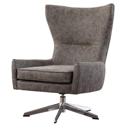 Arya Collection 1900103-266 PU Swivel Chair with 360 Degree Swivel  Chrome Steel Base and Faux Leather Upholstery in Kalahari