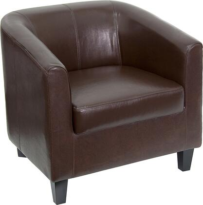 BT-873-BN-GG Brown Leather Office Guest Chair / Reception