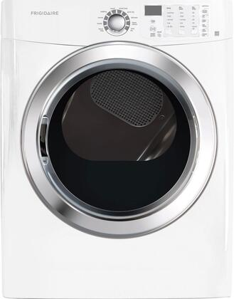 """FFSG5115PW  27"""""""" Freestanding Front Load Gas Dryer With 7.0 Cu. Ft. Capacity  Ready Steam  Quick Dry  Precision Dry Moisture Sensor  Stainless Steel Drum  Quick"""" 336481"""