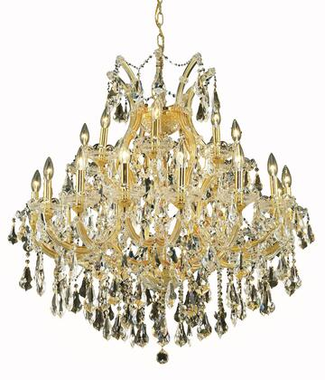 2801D36G-GT/RC 2801 Maria Theresa Collection Hanging Fixture D36in H36in Lt: 24+1 Gold Finish (Royal Cut Golden