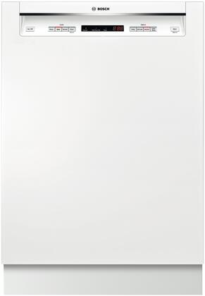 """Bosch 300 Series 24"""" Tall Tub Built-In Dishwasher with Stainless-Steel Tub White SHE53T52UC"""