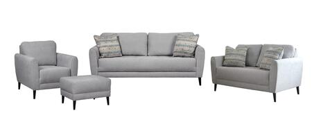 Cardello Collection 32401SLCO 4-Piece Living Room Set with Sofa  Loveseat  Chair and Ottoman in