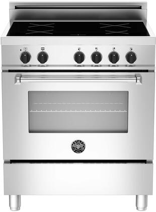 """MAS304 INM XE 30"""" Masters Series Induction Range with 3.4 cu. ft. European Convection Oven 4 Induction Heating Zones Booster Feature Pan Detection System"""