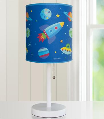 631411 Olive Kids Out of this World Cylinder Lamp  Blue