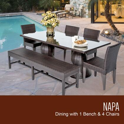 Napa-rectangle-kit-4c1b Napa Rectangular Outdoor Patio Dining Table With 4 Chairs And 1
