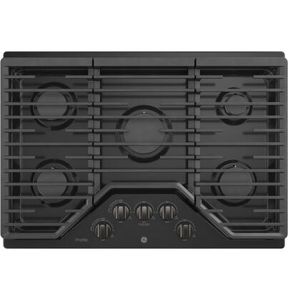 PGP7030BMTS 30 Built In Gas Cooktop with 18 000 BTU Burner  Sealed Cooktop  White LED Backlit Heavy-Duty Knobs  and Precise Simmer Burner  in Black