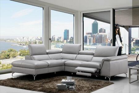Viola Collection 18235-LHFC 106 inch  2-Piece Sectional Sofa with Left Facing Chaise and Right Facing Sofa in Light