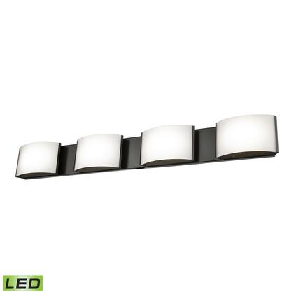 Bvl914-10-45 Pandora Led 4 Light Led Vanity In Oiled Bronze And Opal