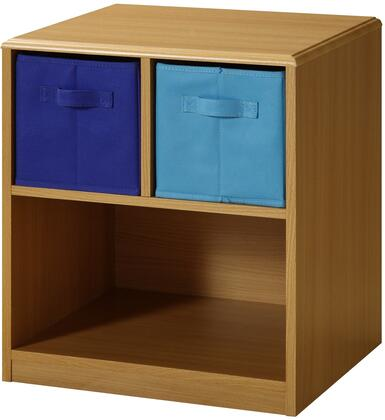 Jason Collection 12315 19 inch  Boy's Nightstand with 2 Drawers and Durable PVC Finish in