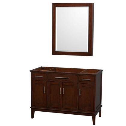 Wcv161648scdcxsxxmed 48 In. Single Bathroom Vanity In Dark Chestnut  No Countertop  No Sink  And Medicine
