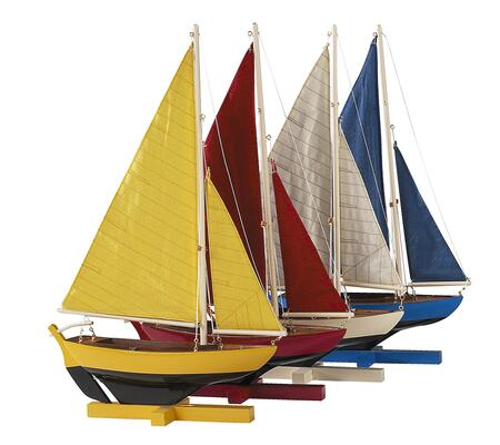 AS170 Sunset Sailers  Set Of 4 2.8 with Basswood & Cotton Material  in Yellow  Red  White &