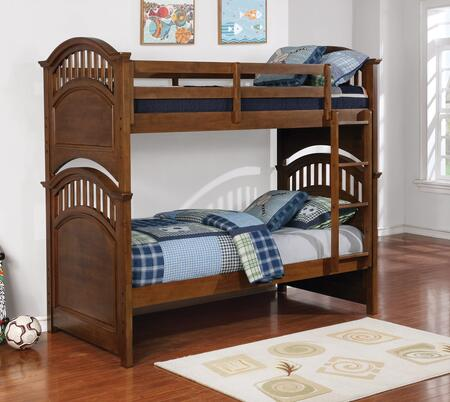 Halsted Collection 461084 Twin Size Bunk Bed with Arched Headboards and Footboards  Separable Beds  Slat Kits Included  Pine and MDF Construction in