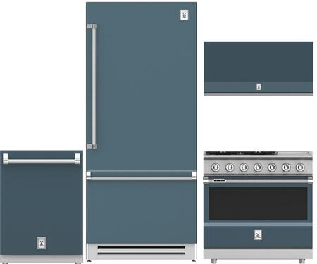 4-Piece Grey Kitchen Package with 36