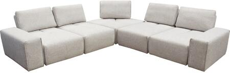 """Jazz_Collection_JAZZ4AC1SC2ARLB_120""""_Modular_5-Seater_Corner_Sectional_with_2_Armrests__4_Armless_Chairs__5_Adjustable_Headrests__1_Corner_Chair_and"""