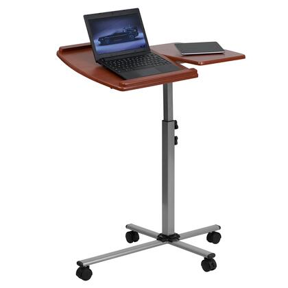 NAN-JN-2762-GG Angle and Height Adjustable Mobile Laptop Computer Table with Cherry