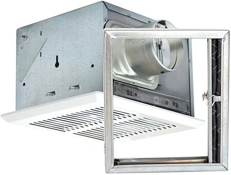 FRAK80H Fire Rated Fan with 80 CFM  Humidity Sensor  and 24 Gauge Galvanized Steel Housing  in