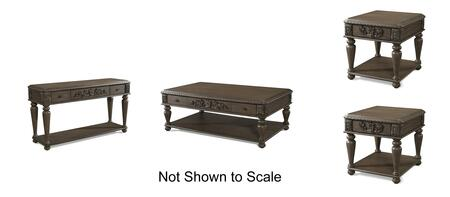 Versailles Collection 980KL4PCRC2SERSKIT1 4-Piece Living Room Table Sets with Coffee Table  2x End Table and Sofa Table in