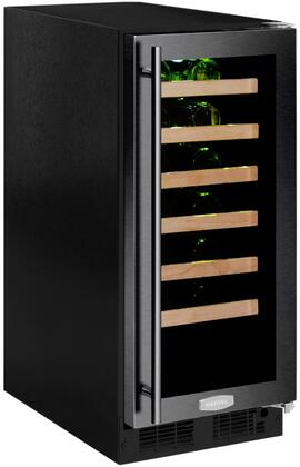 ML15WSG2RB 15 inch  Marvel High-Efficiency Single Zone Wine Refrigerator with Dynamic Cooling Technology  Vibration Neutralization System  Thermal Efficient Cabinet