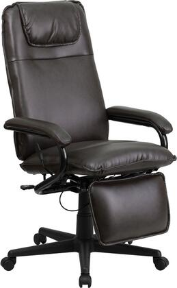 BT-70172-BN-GG High Back Brown Leather Executive Reclining Office
