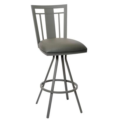LCCL26BAGR Cleo 26 inch  Transitional Barstool In Gray and Gray