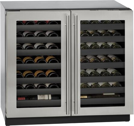 U-Line U3036WCWCS00B 36 Inch Stainless Steel Built-In and Freestanding Wine Cooler