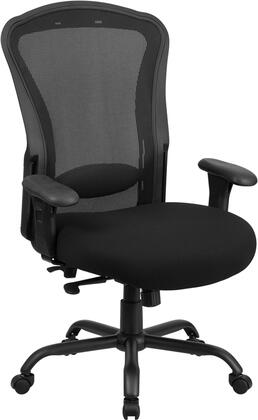 LQ-3-BK-GG HERCULES Series 24/7 Intensive Use  Multi-Shift  Big & Tall 400 lb. Capacity Black Mesh Multi-Functional Swivel Chair with