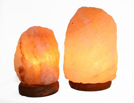 2-AMC950235 6 inch  and 8 inch  Natural Shaped Himalayan Salt Lamp 1.6 and 1.8. Set of 2 with