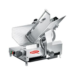 312EC 12 Heavy Duty Slicer with 1/2 HP Motor  Top Mounted Sharpener  Large Food Hopper and Hollow Ground Knife in Stainless