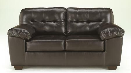 Alliston Collection 2010135 71 Loveseat with DuraBlend Upholstery  Plush Padded Arms  Tufted Detailing and Contemporary Style in