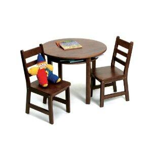 534WN Lipper's Rectangular Table with Shelves and 2 Chairs in