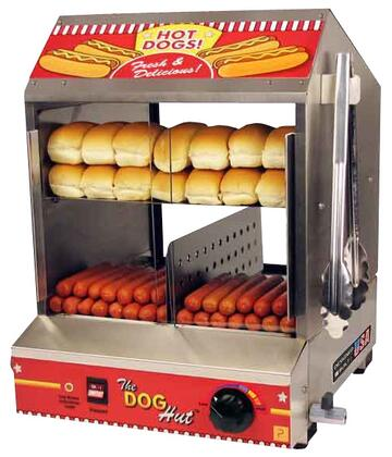 "8020 15.50"""" The Dog Hut Hotdog Steamer & Merchandiser with Stainless Steel Constructed Heavy Duty"" 689106"