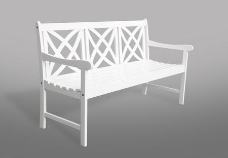 V1612 Bradley Eco-Friendly 5-Foot Outdoor Wood Garden Bench