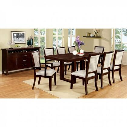 Garrison I Collection CM3751TEDTB8ACSC 10-Piece Dining Room Set with 60