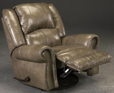 Livingston Collection 64500-6 1274-28/3074-28 41 Power Glider Recliner With Bombay Arms  Pub Back Design  Top Stitch Sewing And Top Grain Leather Touch/match