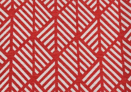I 9208 Pillow - 18 inch X 18 inch  / Red Geometric Design /