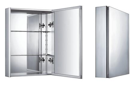 WHKAL Vertical Wall Mount Medicine Cabinet With Mirrored Door  Two Adjustable Glass Shelves  And Mirror Faced Back Wall.
