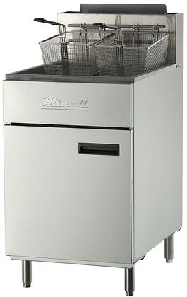 C-F75-LP 22 inch  Commercial Liquid Propane Gas Fryer with 5 Burners  150000 Total BTU  Stainless Steel Construction  2 Chrome Plated Wire Mesh Baskets  and 2