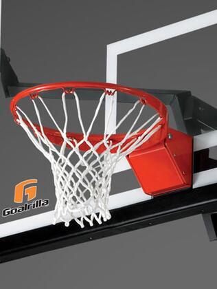 B2601 Basketball Pre-Assembled  Spring Loaded and Powder Coated Pro-Style Flex Rim with a Net: