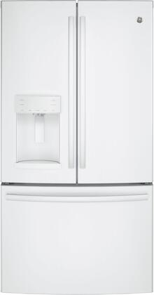 GFE26GGKWW 36 Energy Star  ADA Compliant French Door Refrigerator with 25.8 cu. ft. Capacity  Twin Chill Evaporators  Water and Ice Dispenser  Frost