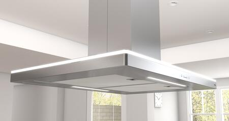 Zephyr ZLC-E42BS 600 CFM 42 Inch Wide Island Range Hood with ACT Technology and LED Lighting from Luce Series